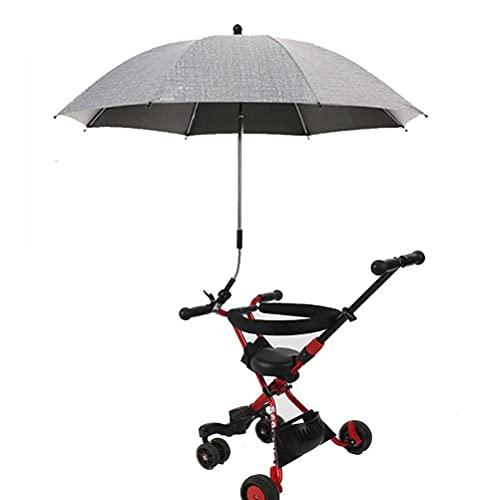badewanne Parasol para cochecito, paraguas con clip, cinta negra plegable con clip de fijación, adecuado para cochecito, silla de playa, silla de ruedas