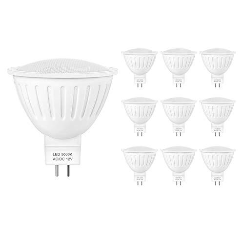 Mr16 Led Bulb,Mr16 led Landscape Bulbs,7W Equivalent 65W Halogen Bulbs,5000K Daylight White Bulb, 12 Volt Mr16 GU5.3 Led Spot Light Bulb ,700 Lumen ,120 Degree Wide Angle,Non Dimmable?10- Pack