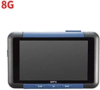 Whiteswanau 3 Inch Screen Video Music MP5 Player 8GB Slim LCD Screen Music Media Player FM Radio Recorder E-Book Reader Blue