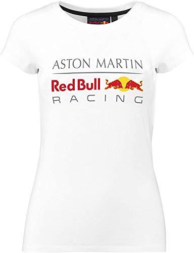 Aston Martin T-Shirt Femme Logo Sponsor F1 Racing Formula Team RB - Blanc - XS