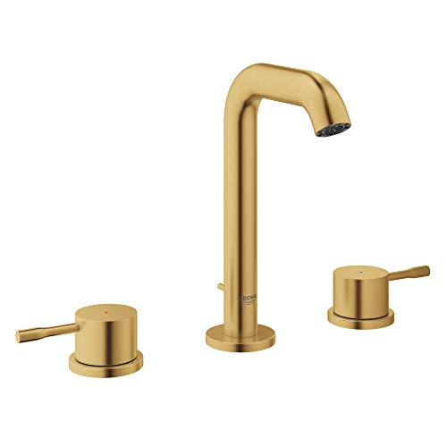 GROHE 20297GNA Essence 8″ Widespread Two-Handle Bathroom Faucet M-Size, Brushed Cool Sunrise