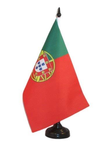 AZ FLAG Drapeau de Table Portugal 21x14cm - Petit Drapeaux DE Bureau Portugais 14 x 21 cm