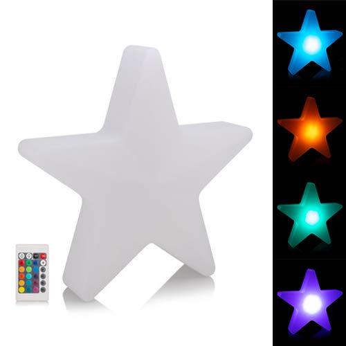 RGB LED Stern mit Fernbedienung, 16 Farben, Dimmer - Outdoor geeignet