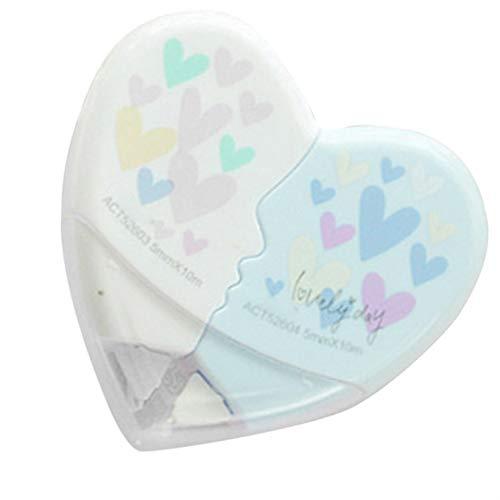 Fornateu 2 PC/par 10m Amor del corazón Corrección Cinta correctora plástico del corazón papelería Corrector Estudiantes Regalos de Oficina de Escuela
