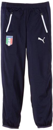 PUMA, Pantaloni Bambino FIGC Italia Walk out Pants, Blu (Peacoat), XL