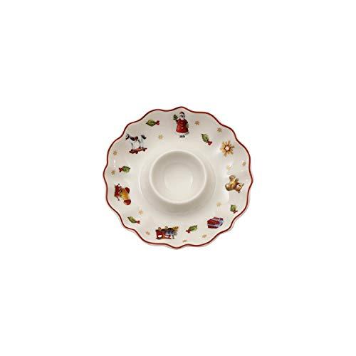 Villeroy & Boch Toy's Delight Eierbecher, Premium Porzellan, Weiß/Rot/Gold