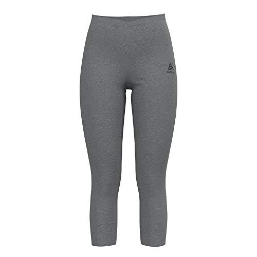 Odlo Damen Unterhose BL Bottom 3/4 Active Warm, Grey Melange, S, 152051
