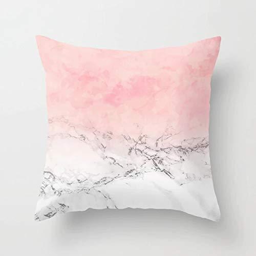 PPMP Ins Funda de Almohada de Color Rosa Dorado, Funda de cojín de mármol Dorado Funda de cojín para sofá en casa decoración de la Silla Funda de Almohada A1 45x45cm 2pc