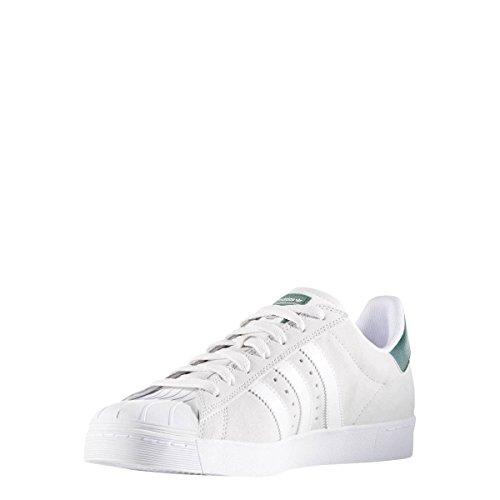 Adidas Skateboarding B27393 Superstar Vulc Adv White White Green EU 40 2/3