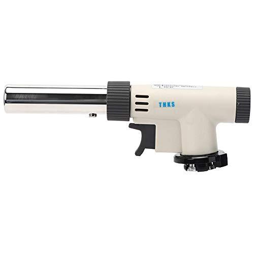Flammenbrenner, tragbarer Gasbrenner, Zündschweißpistole mit einstellbarem Druck für den Außengrill, Löten des Flammenwerfer-Sprühbrenners bis 1300 ℃