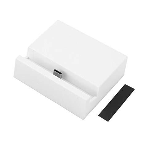 Swiftswan - Cargador de Base USB 3.1 Tipo C, Micro USB y USB a Tipo C, Blanco