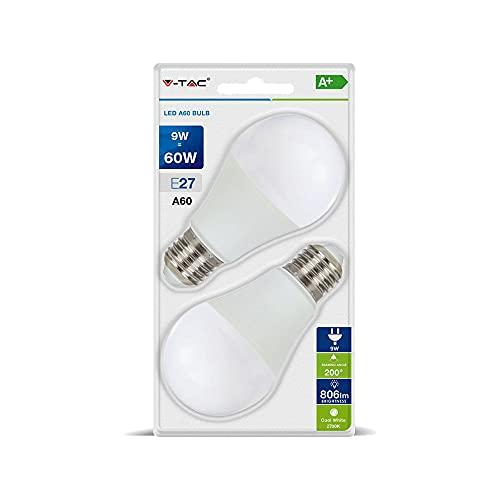 Lampadina LED Blister 9W A60 V-TAC E27, Bianco...
