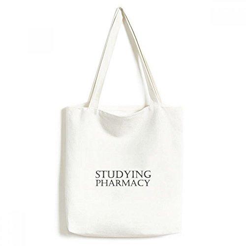 DIYthinker Kurz Phrase Studium Pharmazie Umwelt Waschbar Einkaufs-Tasche Fertigkeit-Geschenk 33 * 40cm Mehrfarbig