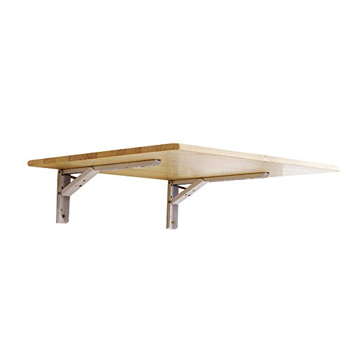 Book shelf Klappbarer Stütztisch, Aufbewahrungstisch, an der Wand montierter Stütztisch, Trennwandtisch, hängender Tisch, Computer-Stütztisch, Möbelzubehör (Farbe Rohholz)