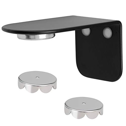 bremermann Magnet-Seifenhalter PUREZZA - frei hängende Seife durch Magnet - Kleben oder Bohren (schwarz)