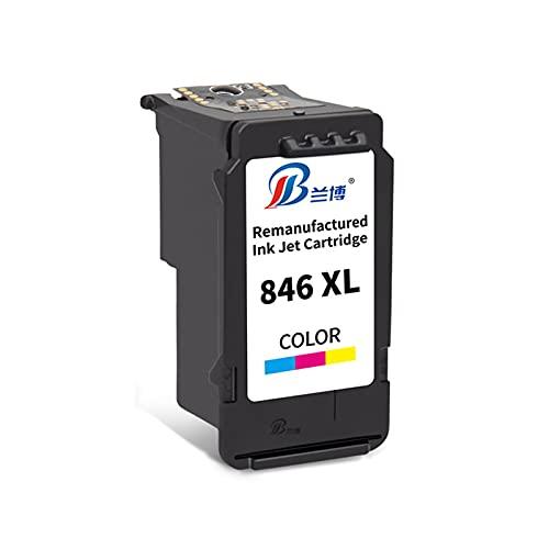 HLDC Reemplazo de Cartucho de Tinta Compatible para PG-845 CL-846 Alto Rendimiento Adecuado para Canon PIXMA TS3180 MG2400 IP2880 MG3080 MG2980 Impresora,Tricolor