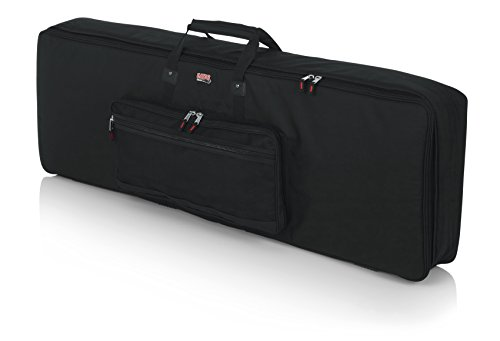 Gator Cases Padded Keyboard Gig Bag; Fits 88 Note Keyboards (GKB-88)