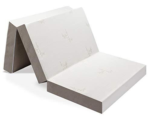 Milliard: colchón Plegable de Tres Partes, 15 cm de Profundidad, para huéspedes con Funda extraíble removible y Base Antideslizante - Individual (190 x 90 cm)