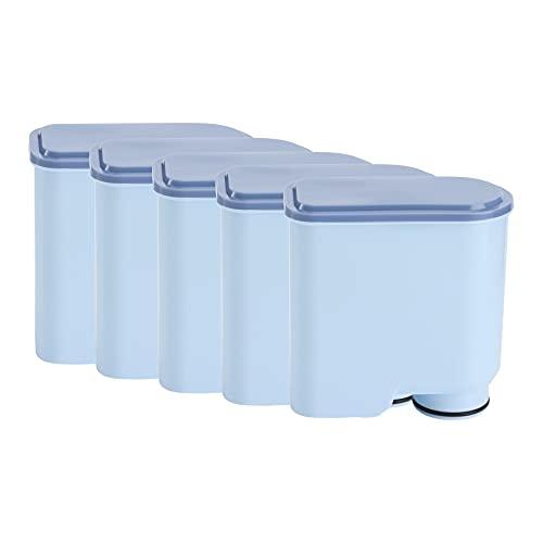 Timagebreze Cartucho de Filtro de Limpieza de Agua para AquaClean CA6903 / 10/00 / 01/22 / 47, Filtro de Agua de CarbóN Activado 5 Piezas