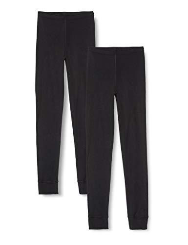Amazon-Marke: Iris & Lilly Damen Lange Thermo-Unterhose 2er Pack, Schwarz (Black), XS, Label: XS