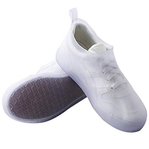 LQPHY Funda para Zapatos, Funda Impermeable para Zapatos, Silicona, Reutilizable, Lavable, para días lluviosos y nevados, Blanco, XXL