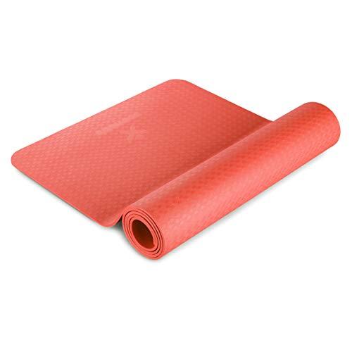 BODYMATE Esterilla de Yoga Premium de TPE   Tamaño 183x61 cm   Grosor 6 mm   Libre de ftalatos, BPA y Metales Pesados   Esterilla para Fitness, Yoga, Pilates, Entrenamiento Funcional