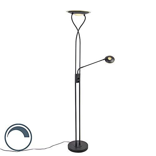 QAZQA Uplighter moderno negro flexo LED - MALLORCA Acero/