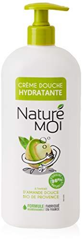 Naturé Moi – Crème douche à l'extrait d'amande douce bio de Provence – Hydrate et nourrit les peaux normales à sèches – 750ml