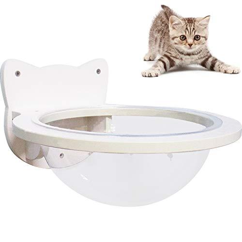 La La Pet Wall-Mounted Cat Capsule Cat Bed Perch Cat Shelf Floating Board Cat Lounge Hammock Small Pets Bed Cat Toy Cat Furniture, M