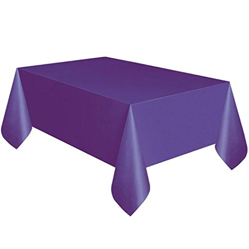 Table Cover,Clearance! Oldeagle Rectangle Large Disposable Plastic Tablecloth Wipe Clean Party Table Colth Covers Wedding Decoration (Purple)