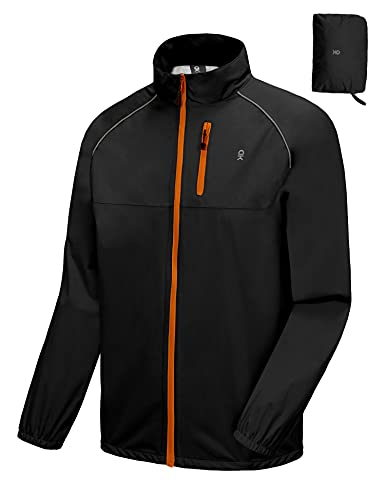Little Donkey Andy Chaqueta impermeable de ciclismo, running y golf, para hombre, cortavientos, ultraligera, plegable - - X-Large