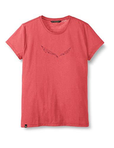 Salewa 00-0000027019_6385 T-Shirt Femme, Virtual Pink Melange, FR : S (Taille Fabricant : 42/36)
