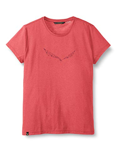Salewa 00-0000027019_6385 T-Shirt Femme, Virtual Pink Melange, FR : S (Taille Fabricant : 42/36)