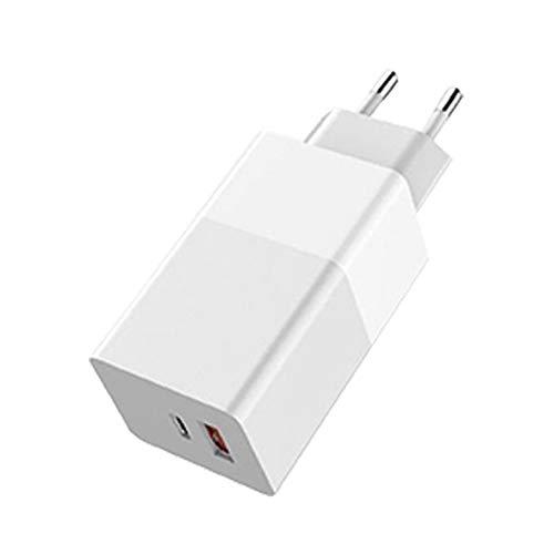 Fast USB Plug cargador de teléfono 65W GaN cargador cargador de teléfono móvil Quik de carga portátil para el ordenador portátil del teléfono Blanca Universal piezas del teléfono móvil portátil