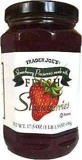 Trader Joe's Strawberries Preserves 17.5oz (Case of 3)