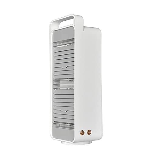 OHHCO Ventilador de Torre USB Recargable 5000mAh Ventilador de Mesa para Sala de Estar Dormitorio Oficina, Oscilación de 45 °, 3 velocidades,Blanco