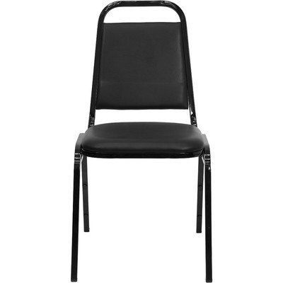 """Hot Sale 1.5"""" Hercules Series Trapezoidal Back Stacking Banquet Chair with Black Frame Quantity: Set of 40"""
