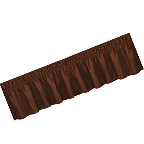 non-branded Faldas de Cama Envolventes Camisa de Cama de Color Sólido Ropa de Cama Elástica Falda Plisada Práctica Sábana de Cama Creativa
