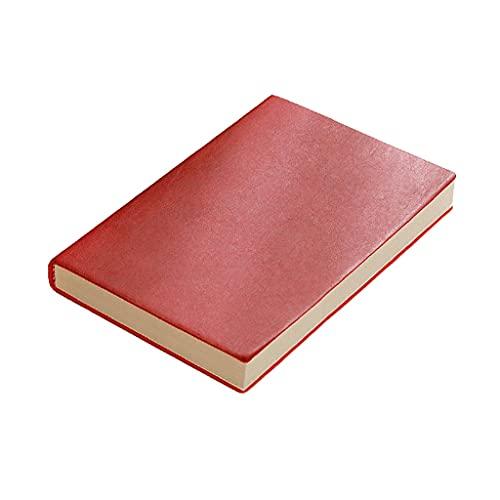 AAZZ Cuaderno Diario A5 Notebook Business Journal Floused Office Reunión Grabar Suministros para el Trabajo, Viajes Cuadernos para Mujeres (Color : Red)