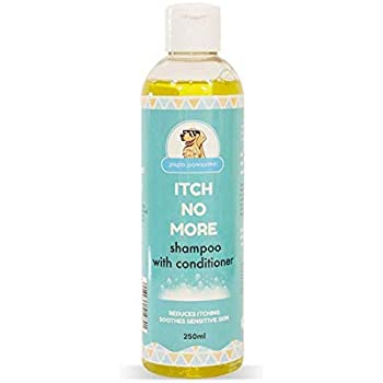 Papa Pawsome 250ml Itch No More Shampoo with Conditioner for Pet Dog Care Anti Itching Body Wash with Neem, Tea Tree and Lemongrass Essential Oils, Reduces itching and rashes, Repels Fleas and Ticks