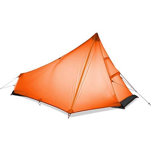 El nuevo Tienda Ultralight Camping Tienda Individual Persona Fácil configuración Impermeable Portátil Sin Polón Tienda Instantánea Instantánea Para Pesca de Senderismo Al aire libre ( Color : Orange )
