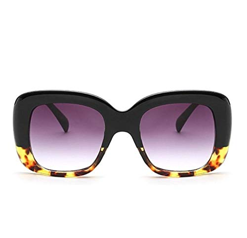 YUFUD Gafa de sol Gafas de sol cuadradas para mujer Gafas de sol para mujer Gafas de sol Gafas de sol grandes, gruesas, grandes y transparentes B