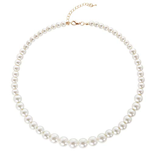 BABEYOND Round Imitation Pearl Choker Necklace Wedding Pearl Necklace for...