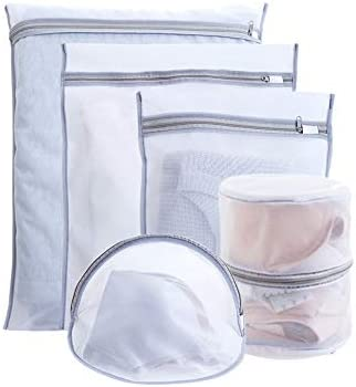 Delicates Nylon Mesh Laundry Bag with Drawstring Closure Rip Tear Resistant Material Organizer product image