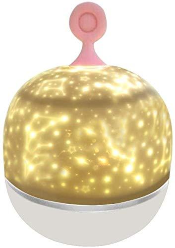 SDFD Luz Nocturna Proyector de música Luces nocturnas Rotación de 360 ° 6 Combinaciones Regulables niños/bebés/cumpleaños
