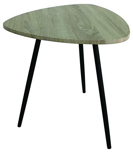 Homemania Table Basse Pictor en Métal, Couleur Noir et Bois Naturell-Maison, Mobilier, Design, pour Salon, Séjour, Bureau, PVC, Taille Unique