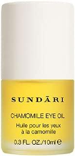 SUNDARI Chamomile Eye Oil ~ 0.3 fl oz ~ Reduce Under-Eye fine Lines and Wrinkles in 4 Weeks ~ All Natural ~ Performance Tested