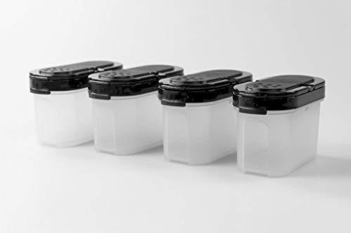 Tupperware Especieros 120 ml Negro (4) 37573