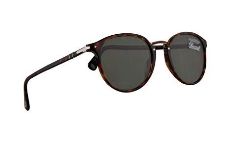Persol PO3210S gafas de sol w/lente verde 51mm 2431 PO 3210S PO 3210S PO3210S hombre la Habana Grande