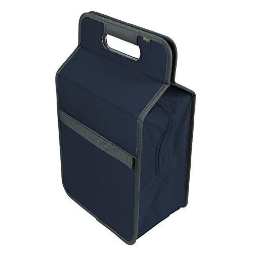 meori Faltbare L-Marineblau-tragbare Flaschen-große Lunchbox-Einkauf Picknick Reise-hygienisch geruchsneutral-A100355, Polyester, Blau, Kühltasche mit Flascheneinsatz, 2
